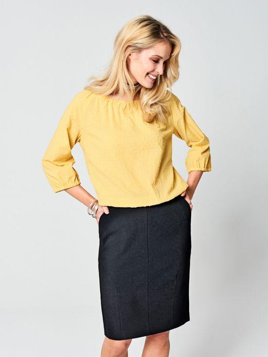 Блуза з укороченими рукавами реглан