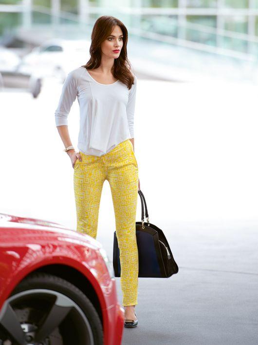 Вузькі брюки з боковими кишенями