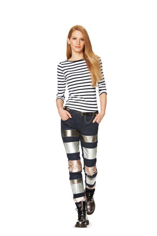 Брюки вузькі у джинсовому стилі