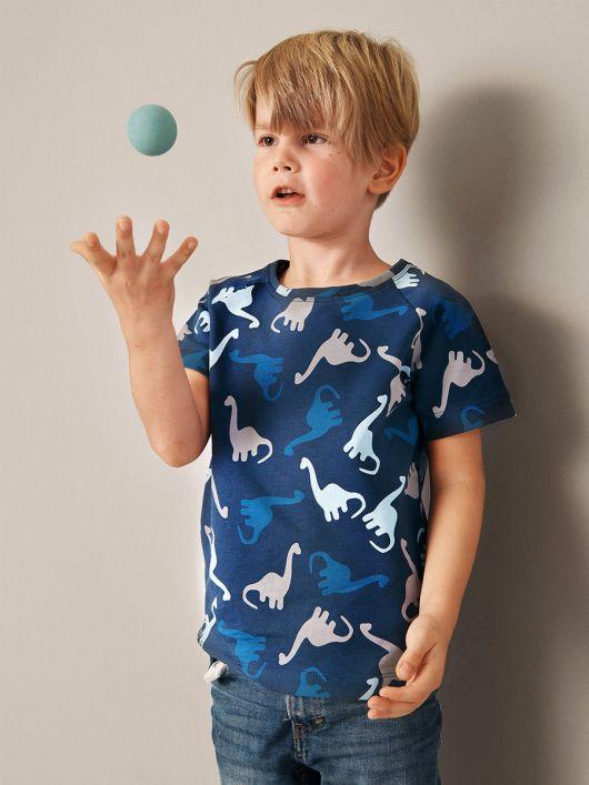 Футболка з короткими рукавами реглан