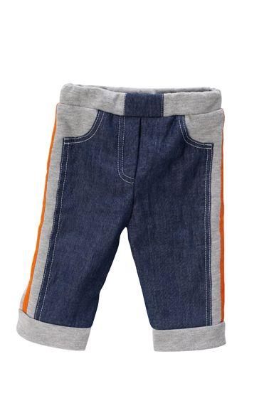 Штани трикотажні в джинсовому стилі