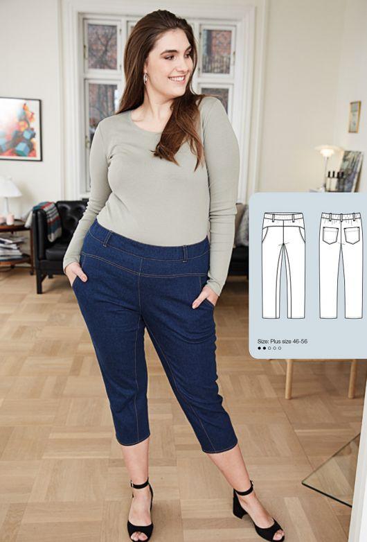 Джинсовые брюки на эластичном поясе