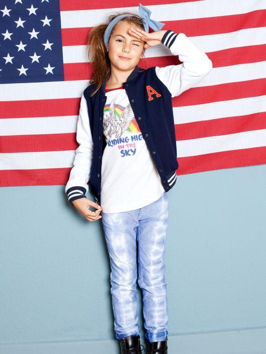 Брюки в джинсовому стилі для дівчинки