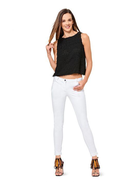 Брюки в джинсовому стилі з низькою посадкою