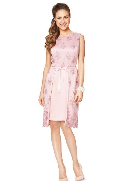 Сукня-футляр з верхньою спідницею