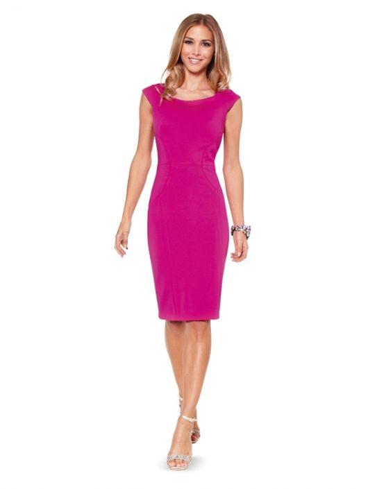 Сукня-футляр атласна з короткими рукавами реглан