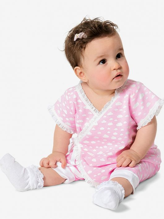 Комбінезон боді із запахом для малюків