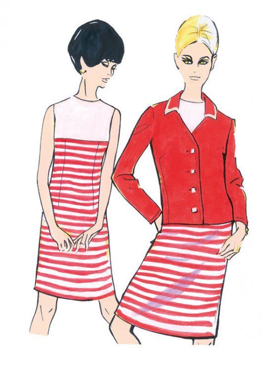 Сукня-футляр і жакет в стилі ретро