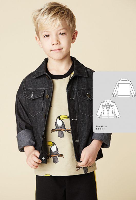 Куртка джинсова з відкладним коміром
