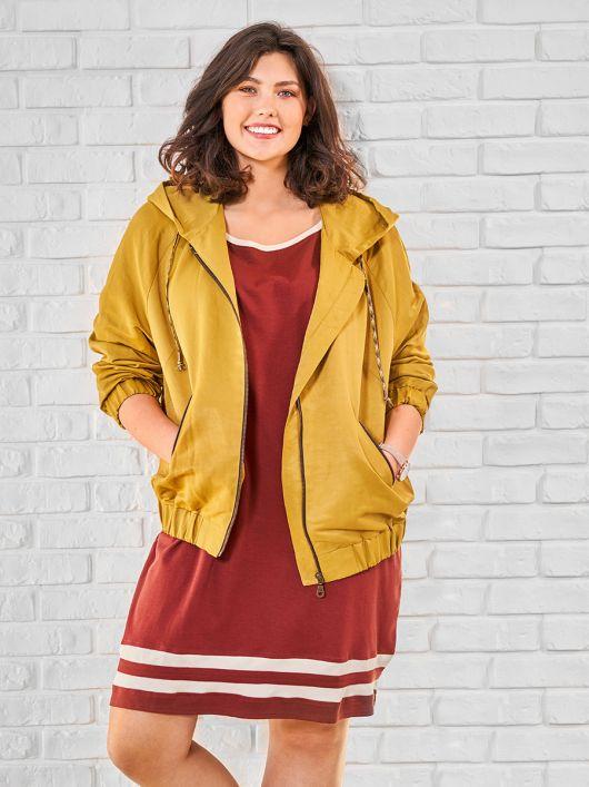 Куртка в спортивном стиле с рукавами реглан