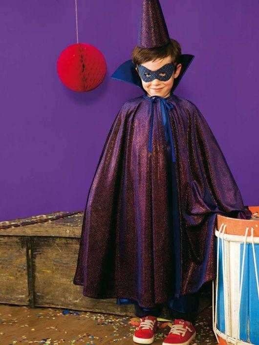 Накидка і ковпак для карнавального костюма «Чарівник»
