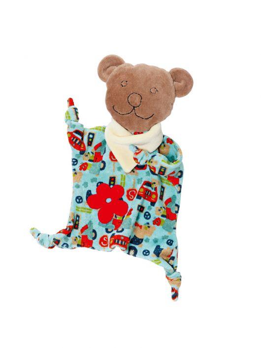 М'які іграшки: ведмедик, овечка, корівка і сонечко