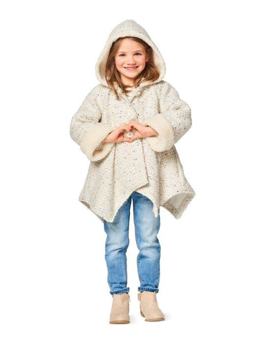 Пальто коротке з асиметричним низом