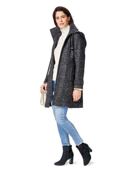 Пальто коротке з коміром-стойкою