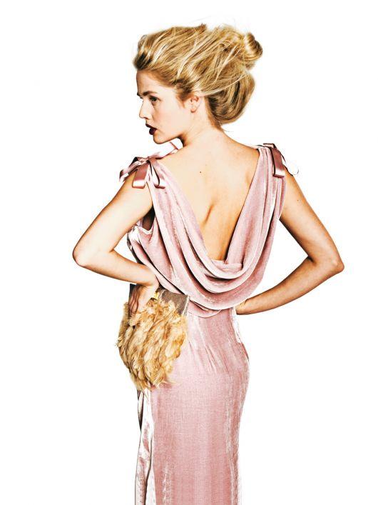 Сукня вінтажна з відкритою спиною
