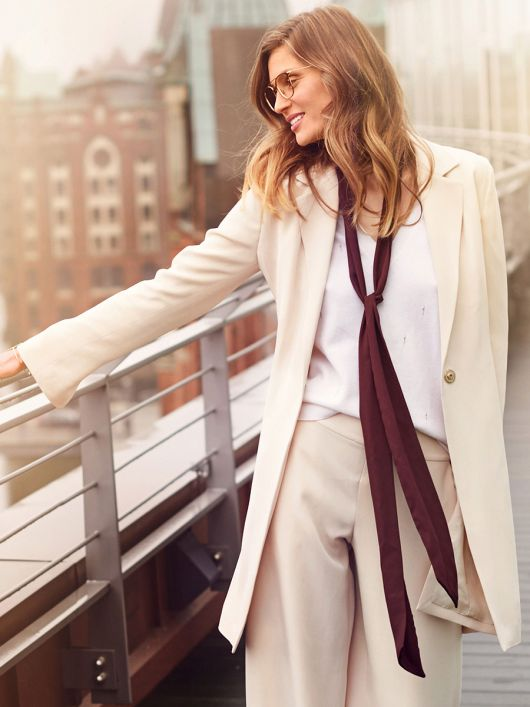 Пальто-блейзер із довгими лацканами