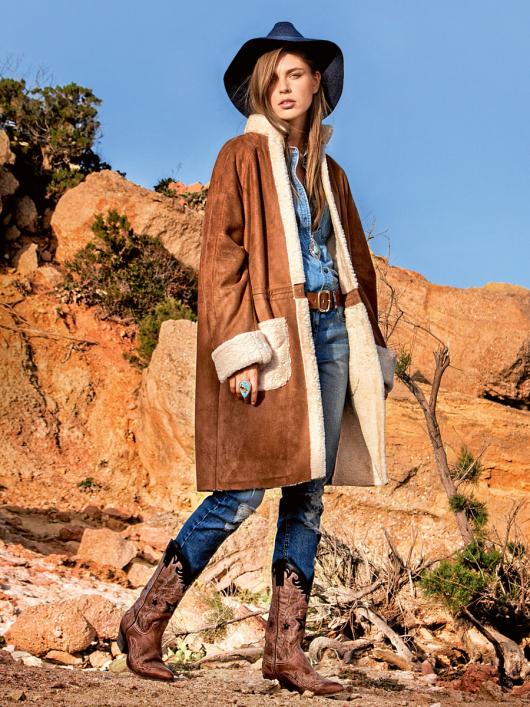 Пальто-дублянка з рукавами-реглан