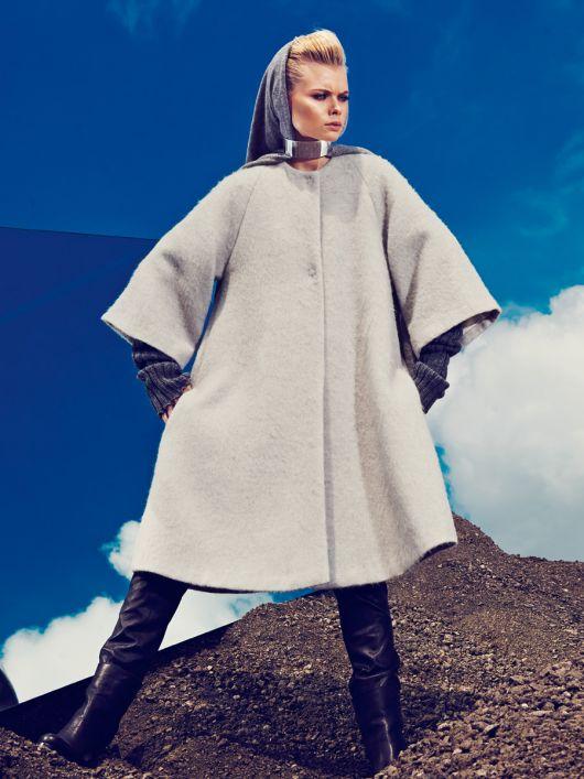 Пальто А-силуету з рукавами реглан