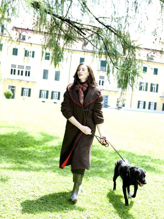 Пальто із шерстяної двохлицьової тканини