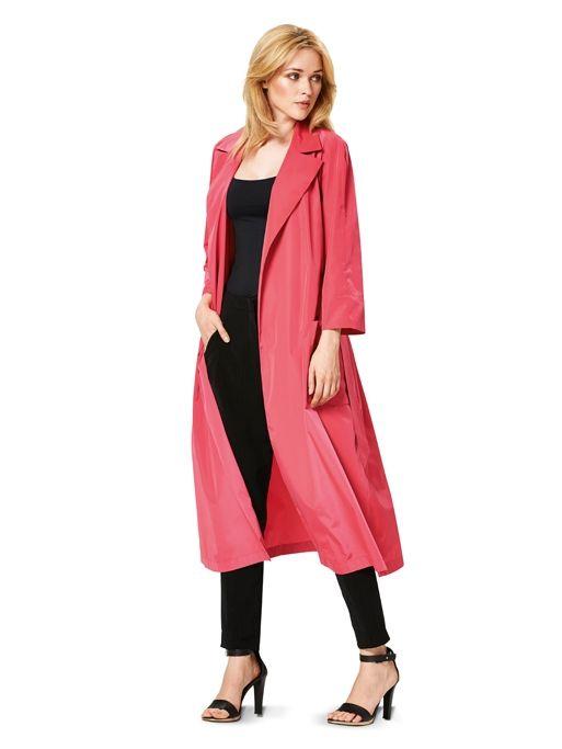 Плащ-пальто з рукавами реглан