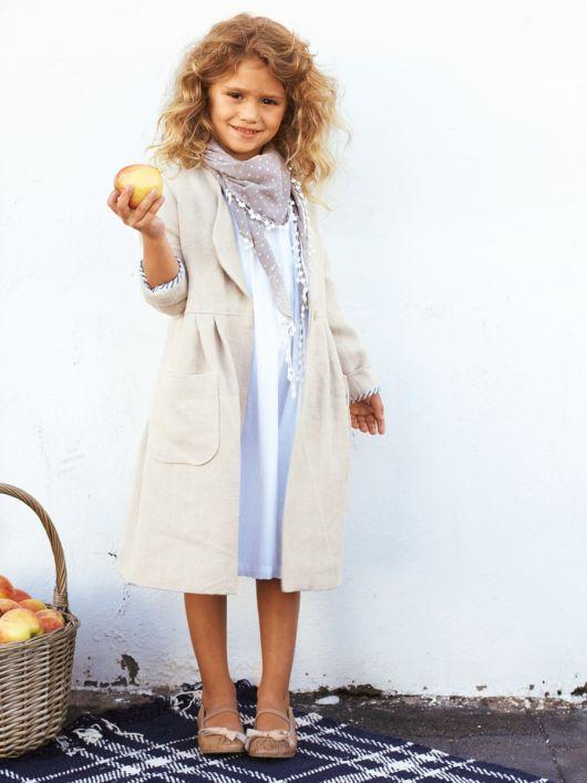 Пальто лляне з накладними кишенями