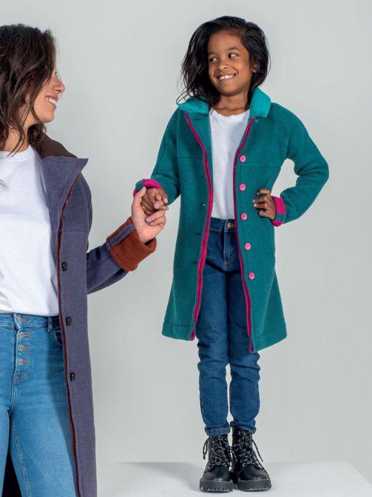 Пальто без підкладки з трикотажним коміром