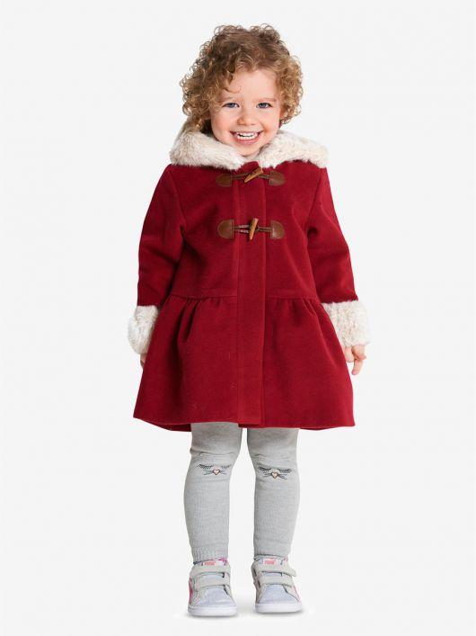 Пальто з баскою і хутряною облямівкою