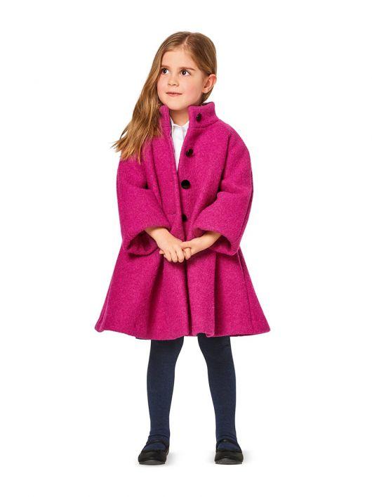 Пальто трикотажне А-силуету з коміром-стойкою