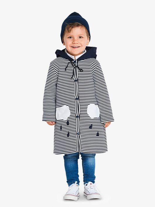 Пальто з капюшоном і коміром-стойкою