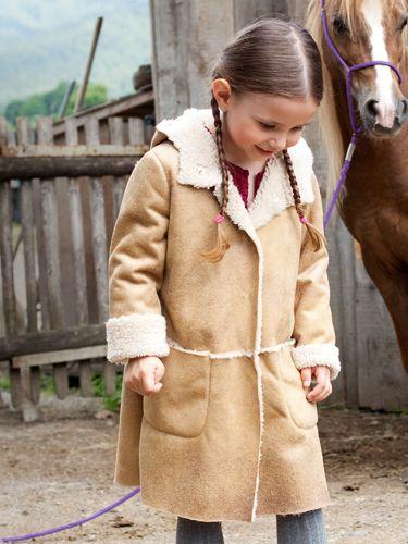 Пальто-дублянка з капюшоном