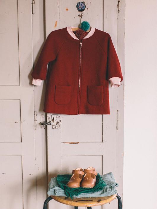 Пальто на блискавці з рукавами реглан