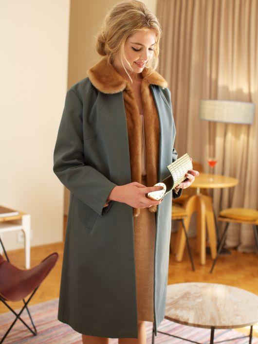 Пальто з хутряним жилетом