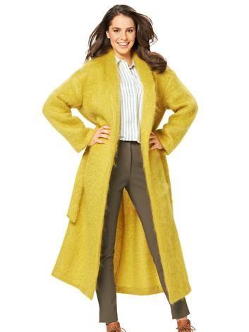 Пальто максі з шалевим коміром