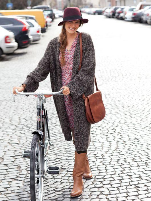 Пальто в стилі оверсайз із в'язаного полотна