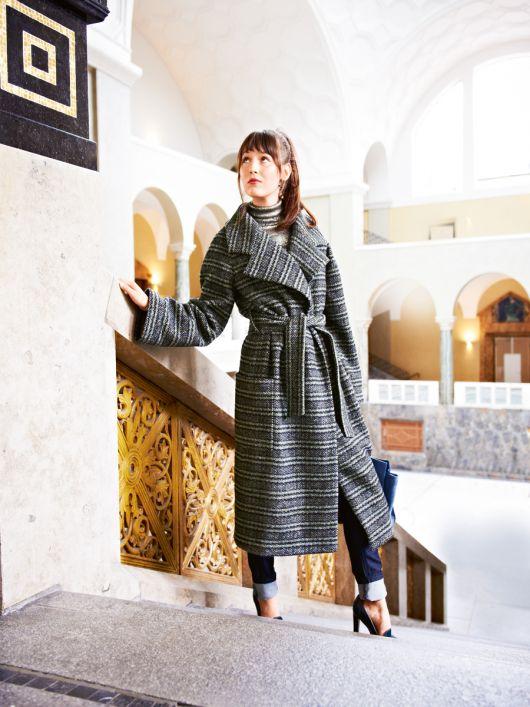 Пальто з рукавами реглан