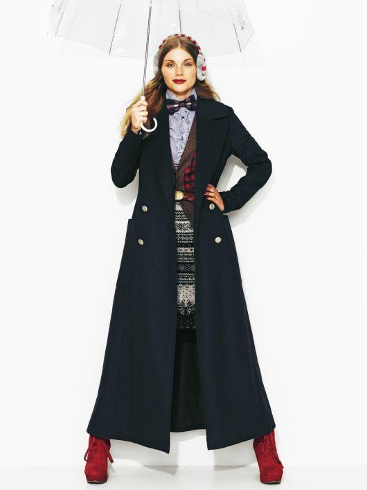 Пальто максі приталеного силуету