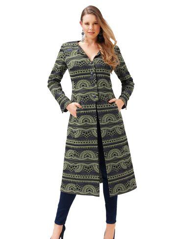 Пальто приталеного силуету без коміра