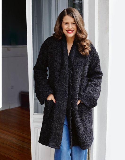 Пальто без застібки