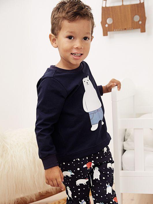 Пуловер піжамний прямого крою
