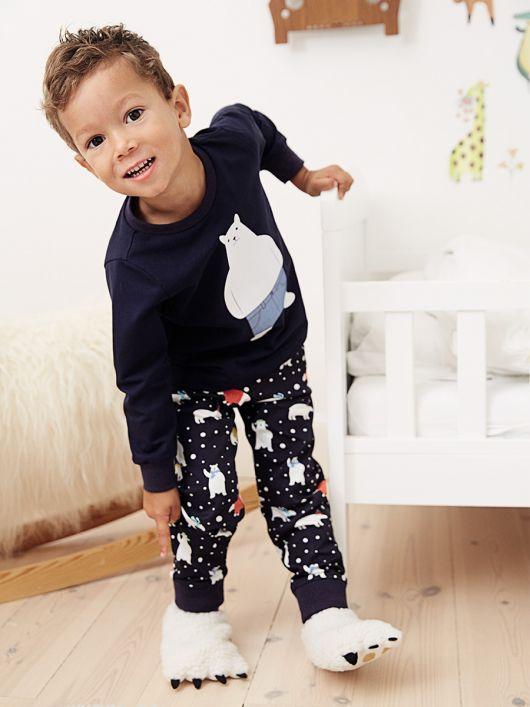 Штаны пижамные трикотажные на эластичном поясе