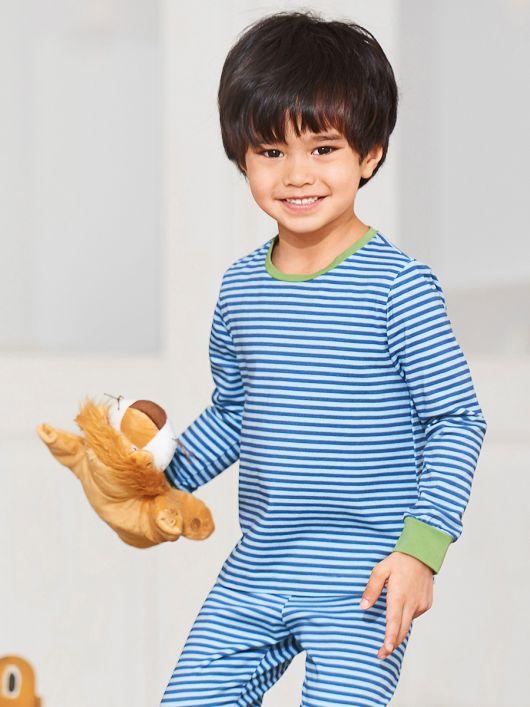 Піжамний пуловер з довгими рукавами
