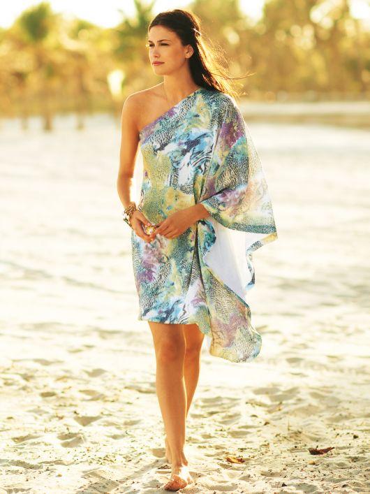 Сукня пляжна асиметричного крою