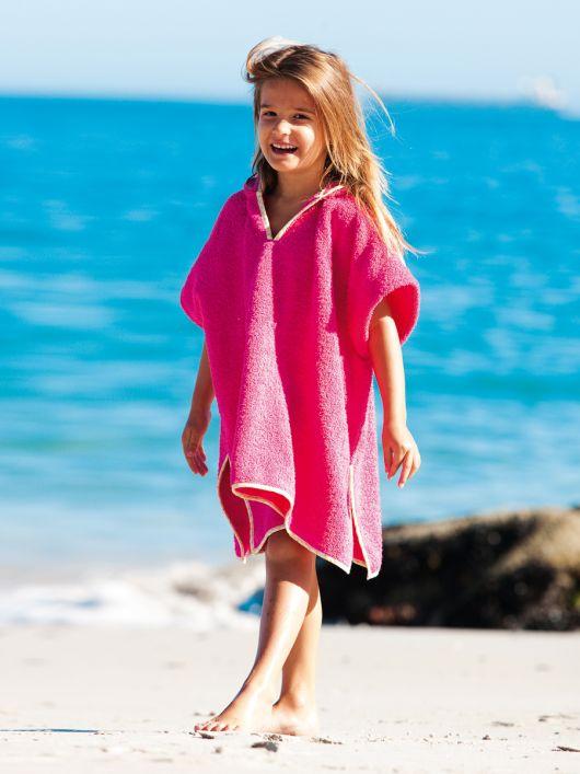 Пончо пляжне з махрової тканини