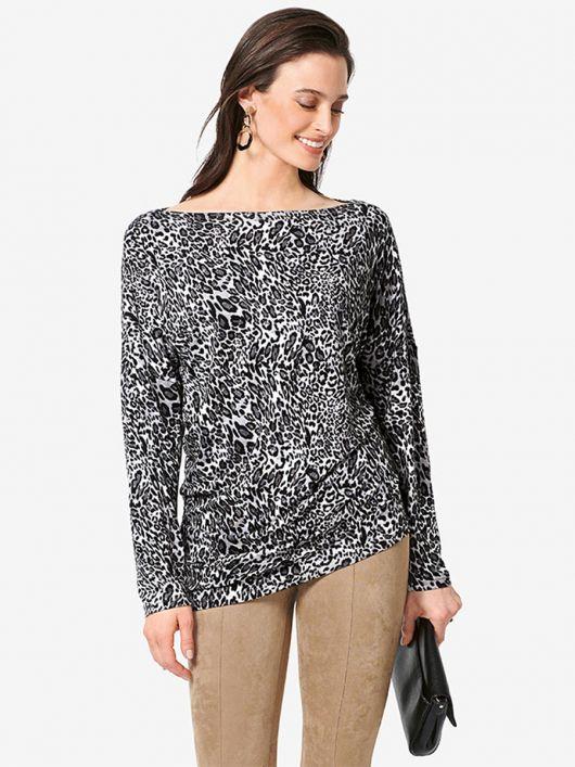 Пуловер асиметричного крою
