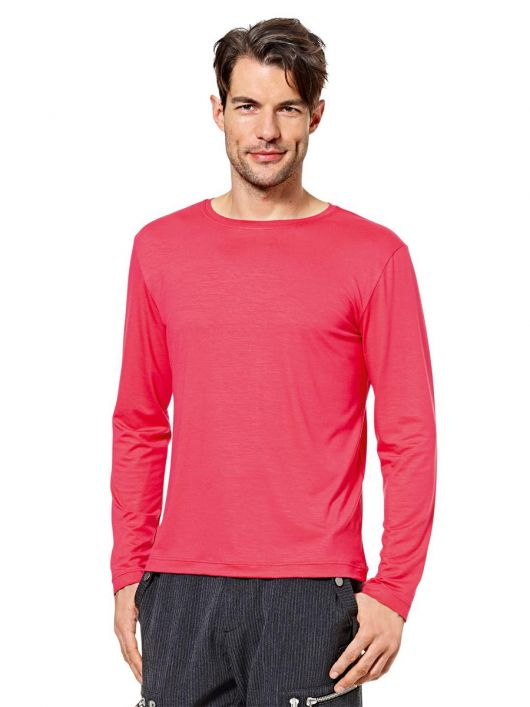 Пуловер простого крою з довгими рукавами