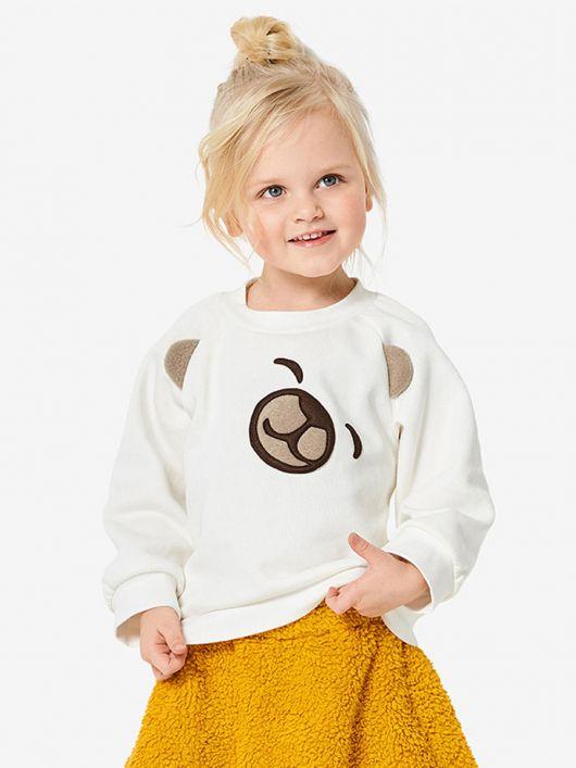 Пуловер реглан з анімалістичним декором