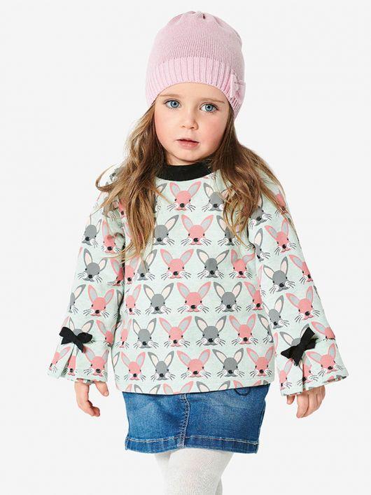 Пуловер реглан з контрастною планкою горловини