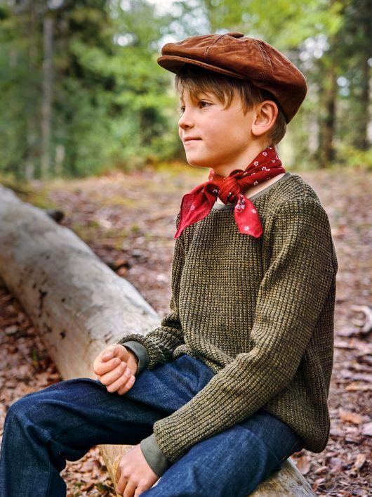 Пуловер прямого крою з круглим вирізом горловини