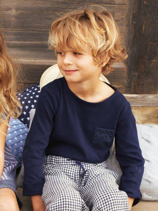 Пуловер із декоративними латками на рукавах