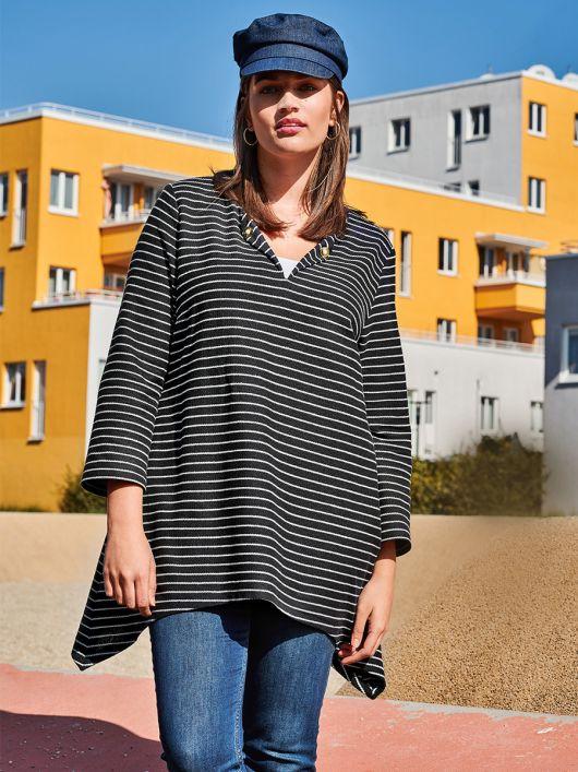 Пуловер-тільник із фігурним нижнім краєм